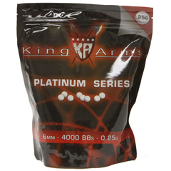 king-arms-25gr-platinum-series-bbs-4000ct-bag-white-pre-order-now